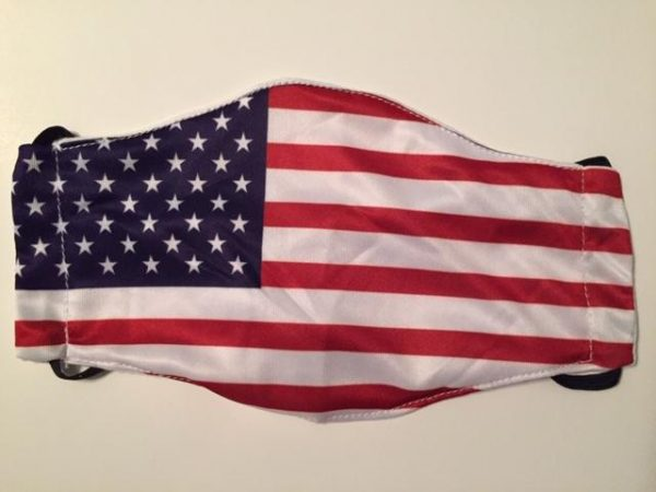 Image of United States Flag Adult Size Cloth Mask sold by Bellview Goods